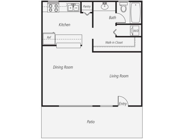 600 Square Feet Apartment Layout