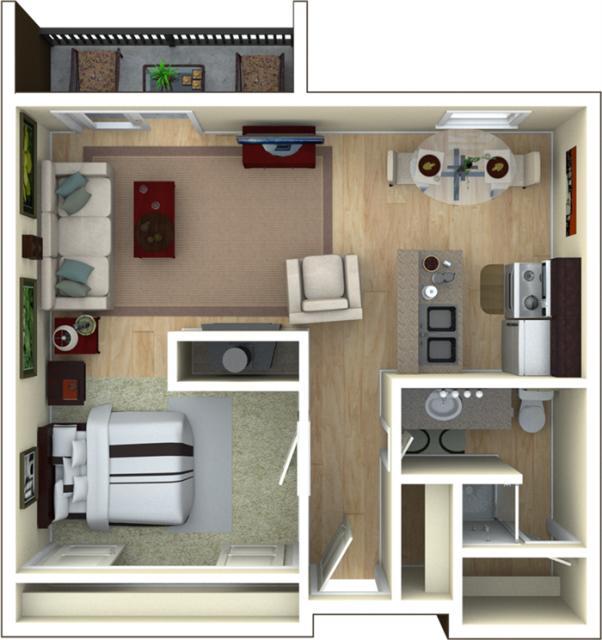 Average One Bedroom Apartment Rent