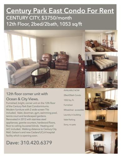 Furnished Century City Condo for Rent Photo 1