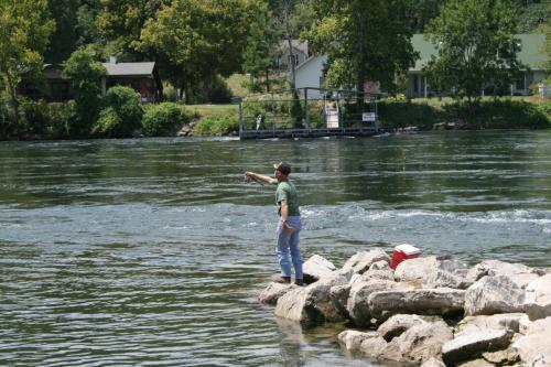 Historic Cotter Arkansas White River Fishing Photo 1