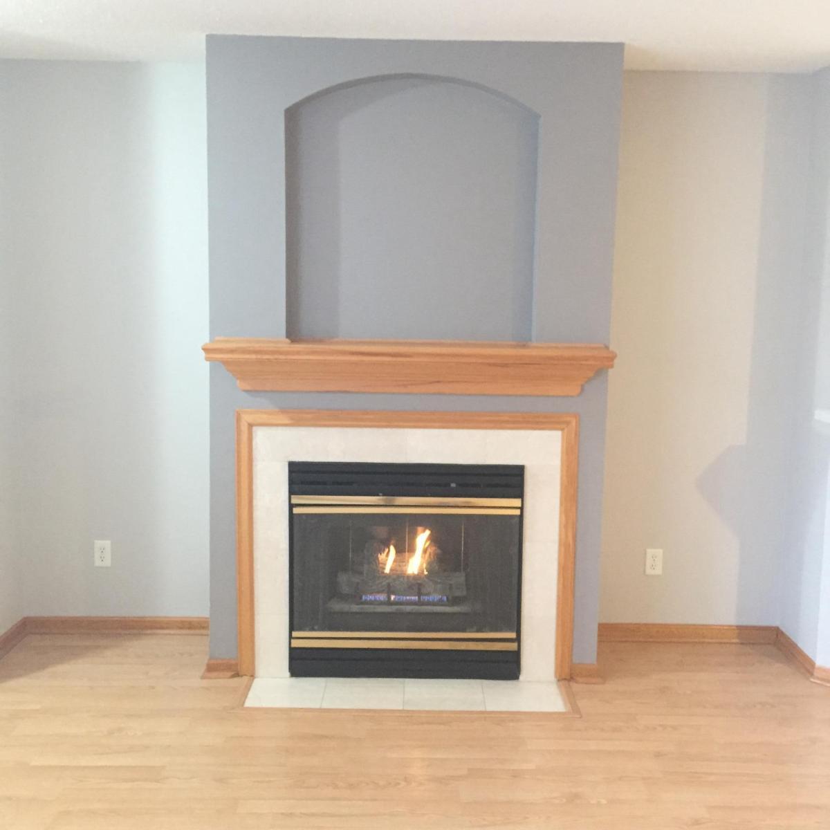 Living Room Fireplace 7425 Wistful Vista Drive 1007