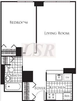 1 bed, $5,950 14F Photo 1