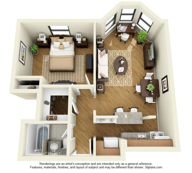 Average Studio Apartment 14 west elm at 14 w elm street, chicago, il 60610 | hotpads